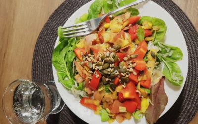 Teplý podzimní salát